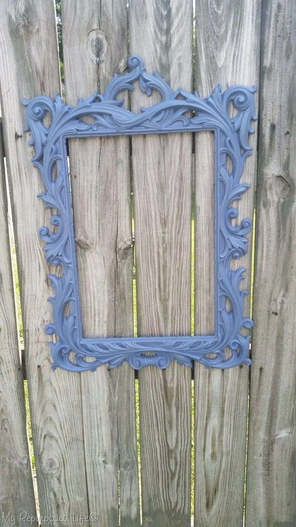 gold mirror frame paint makeover