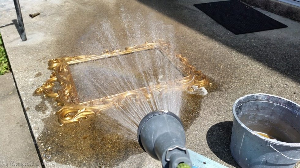 rinse tsp with the hose
