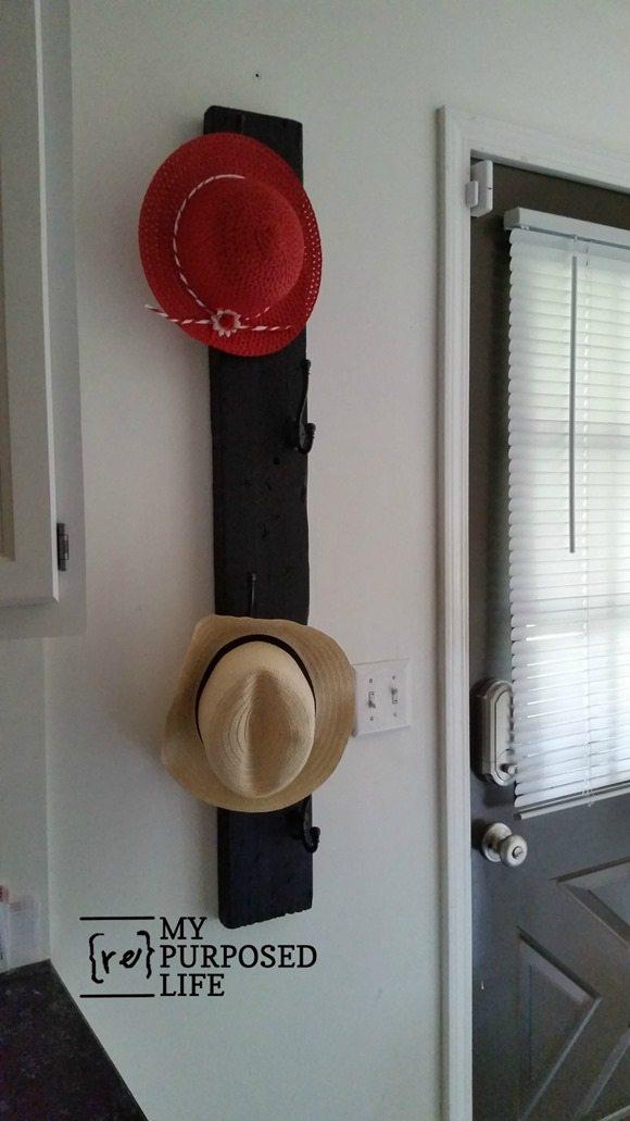 vertical coat rack for hats coats MyRepurposedLife.com