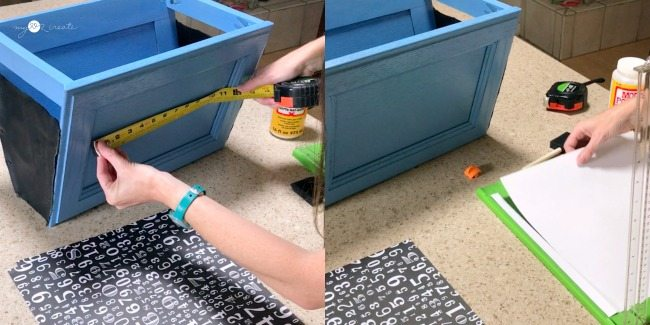 measuring for paper, and cutting paper