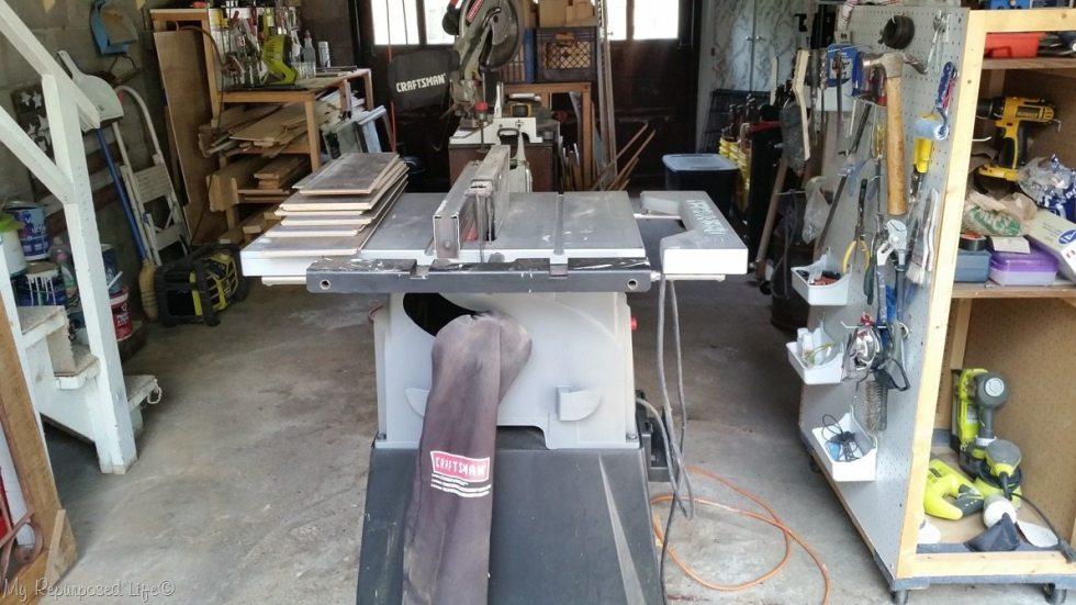 one car garage wood shop organization