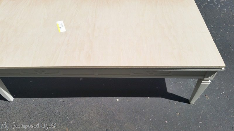 vintage coffee table new top