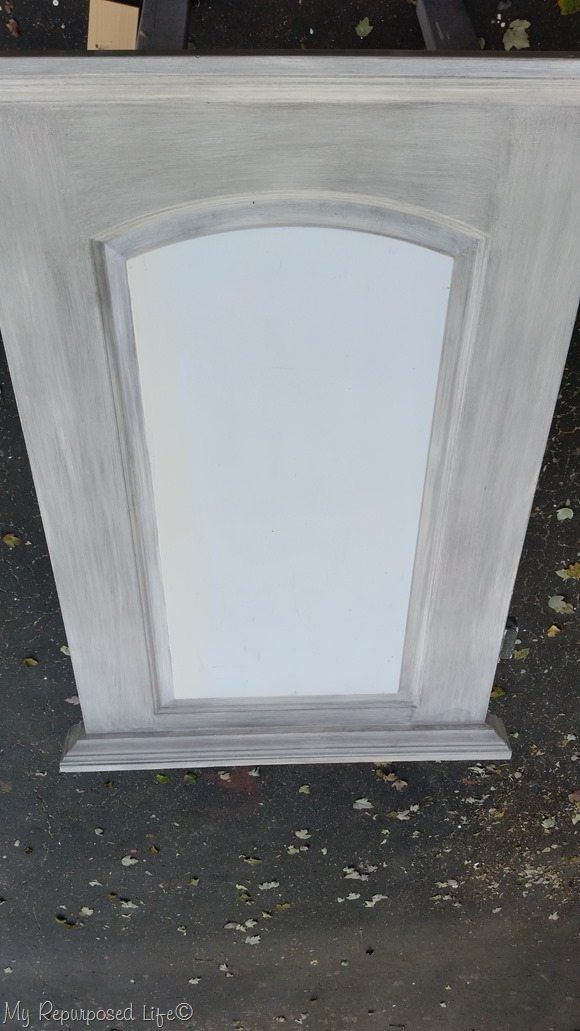 arched hollow door repurposed chalkboard