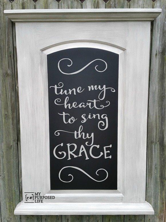 FREE damaged hollow core door chalkboard MyRepurposedLife.com