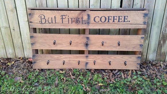 half pallet coffee cup rack