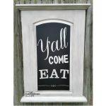 Repurposed Hollow Core Door Chalkboard