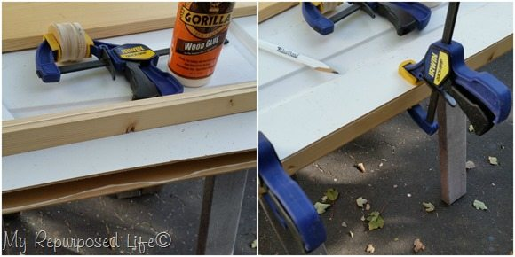 how to fill void in hollow core repurposed door