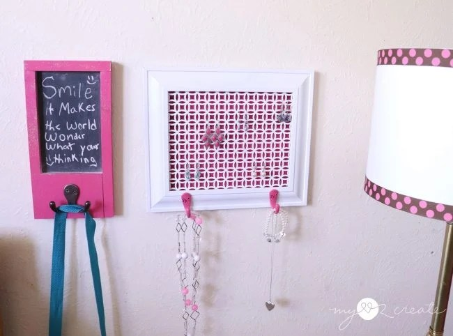 make an earring holder out of a picture frame