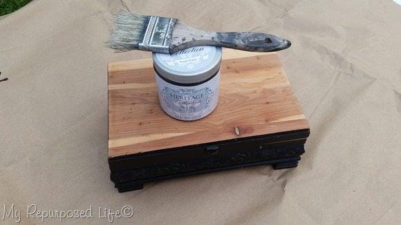 paint wooden trinket box