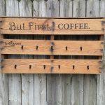 Pallet Coffee Cup Rack
