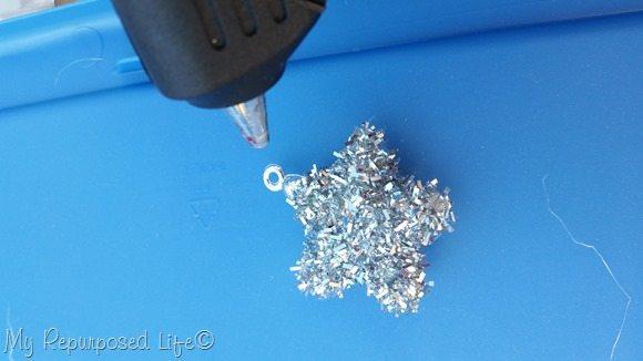 glitter sparkle star ornaments