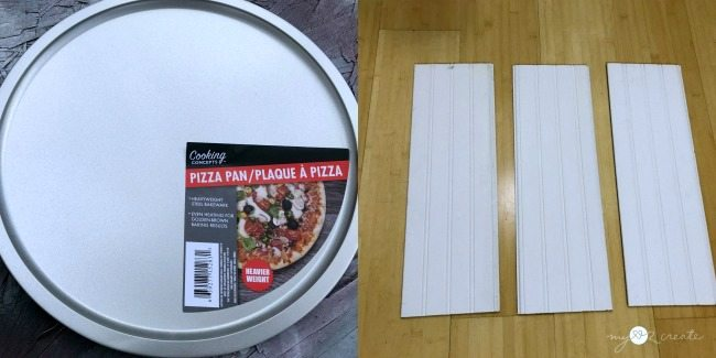 pizza pan and beadboard