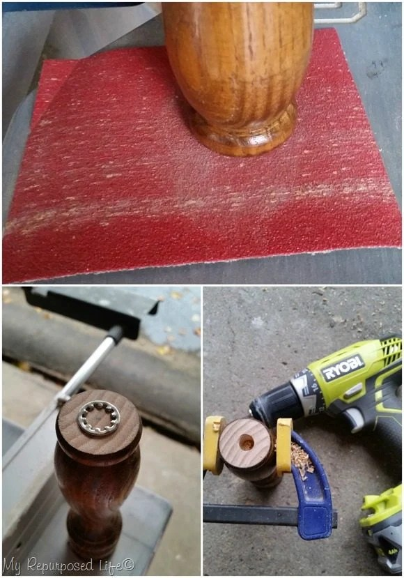 sand and drill spindle