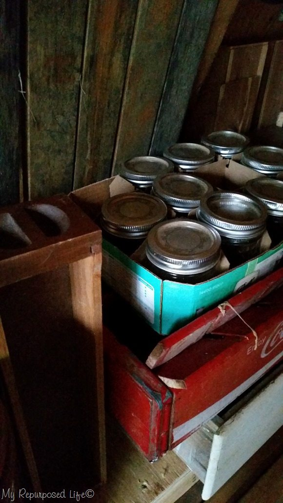 thrift store jelly jars