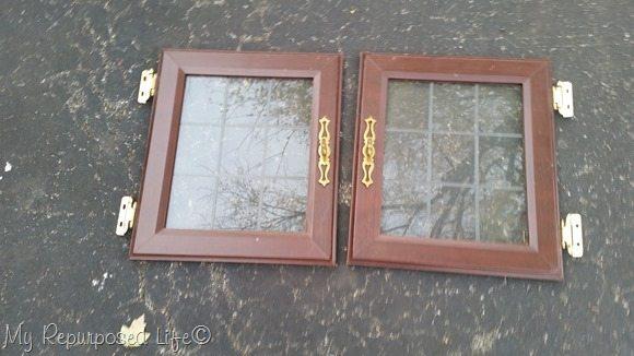 glass paned cupboard doors