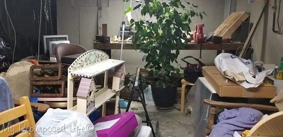 messy basement shop
