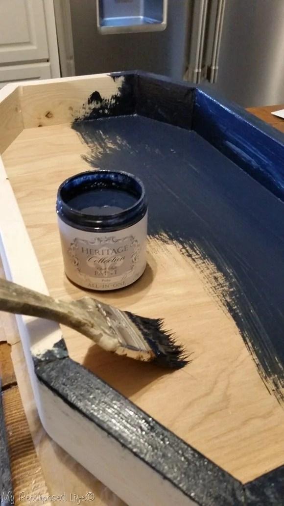 polo navy blue paint