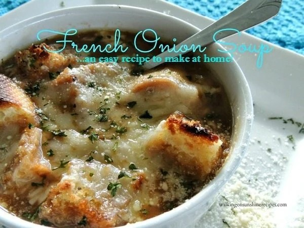 French Onion Soup promo from Walking on Sunshine