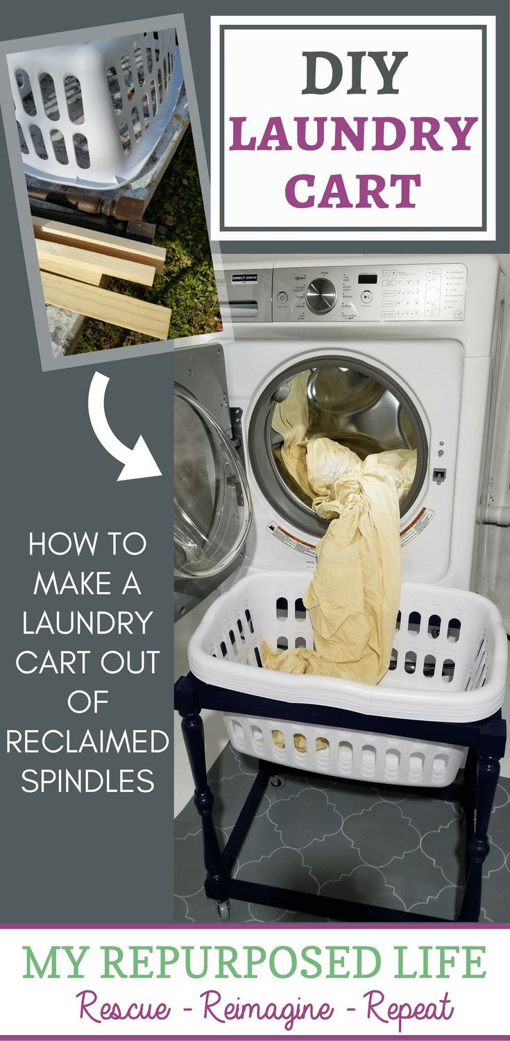 make your own laundry cart MyRepurposedLife.com