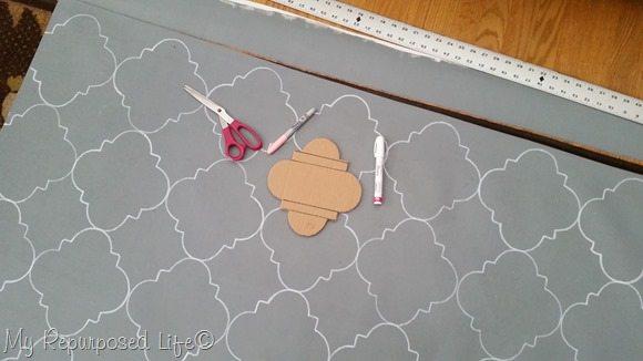 trim vinyl wallpaper stenciled rug