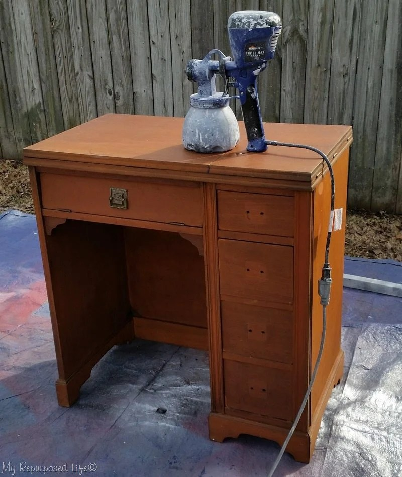 finish max super paints vintage sewing desk