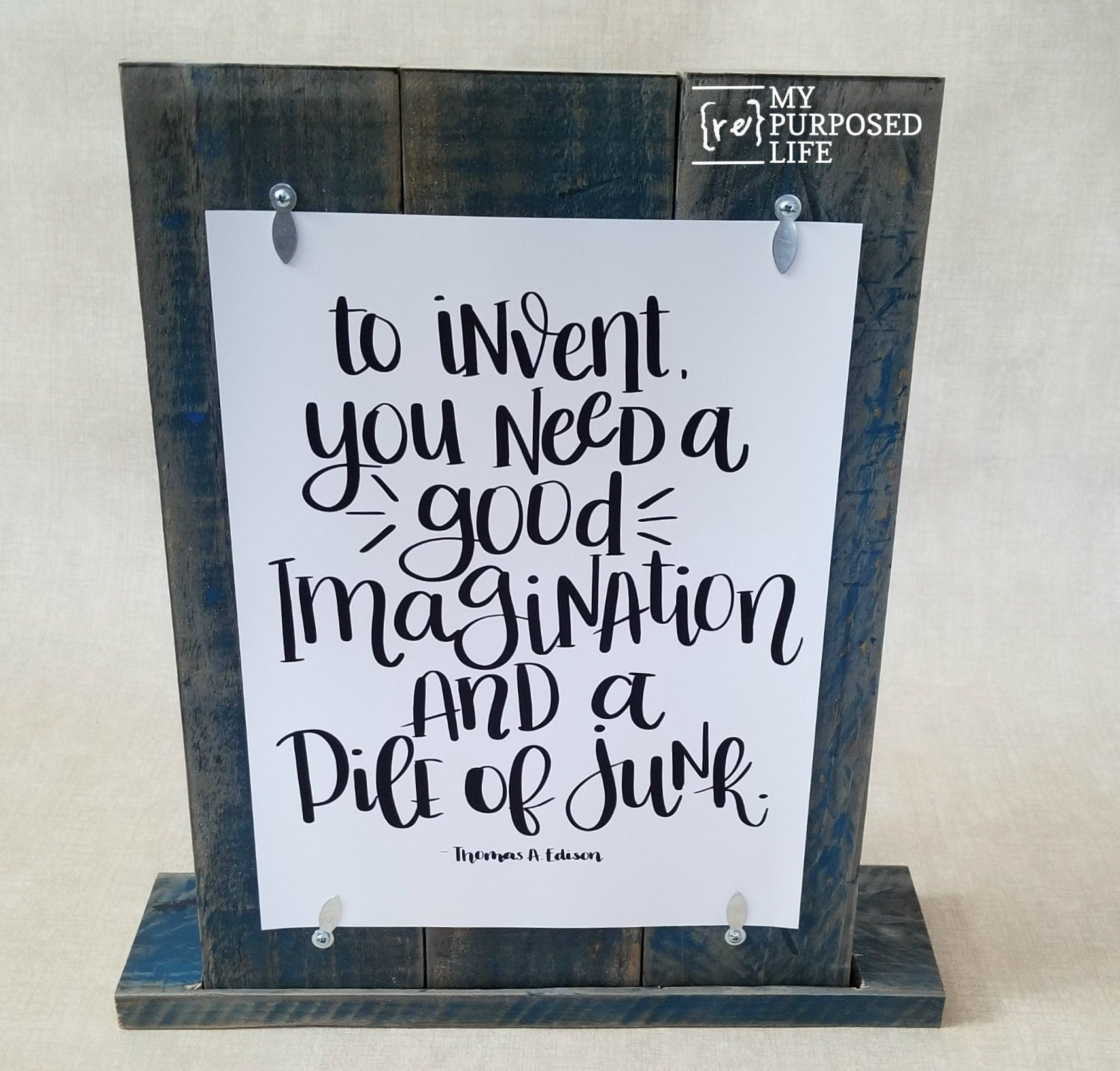 picture regarding Printable Frame titled Printable Pallet Body - My Repurposed Life®