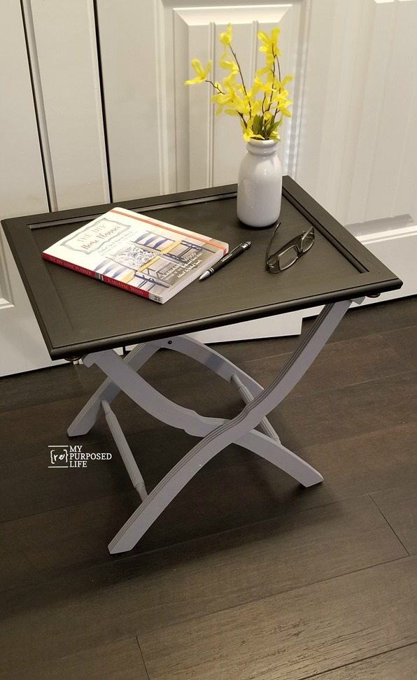 Luggage Rack Side Table Using A Cabinet Door My