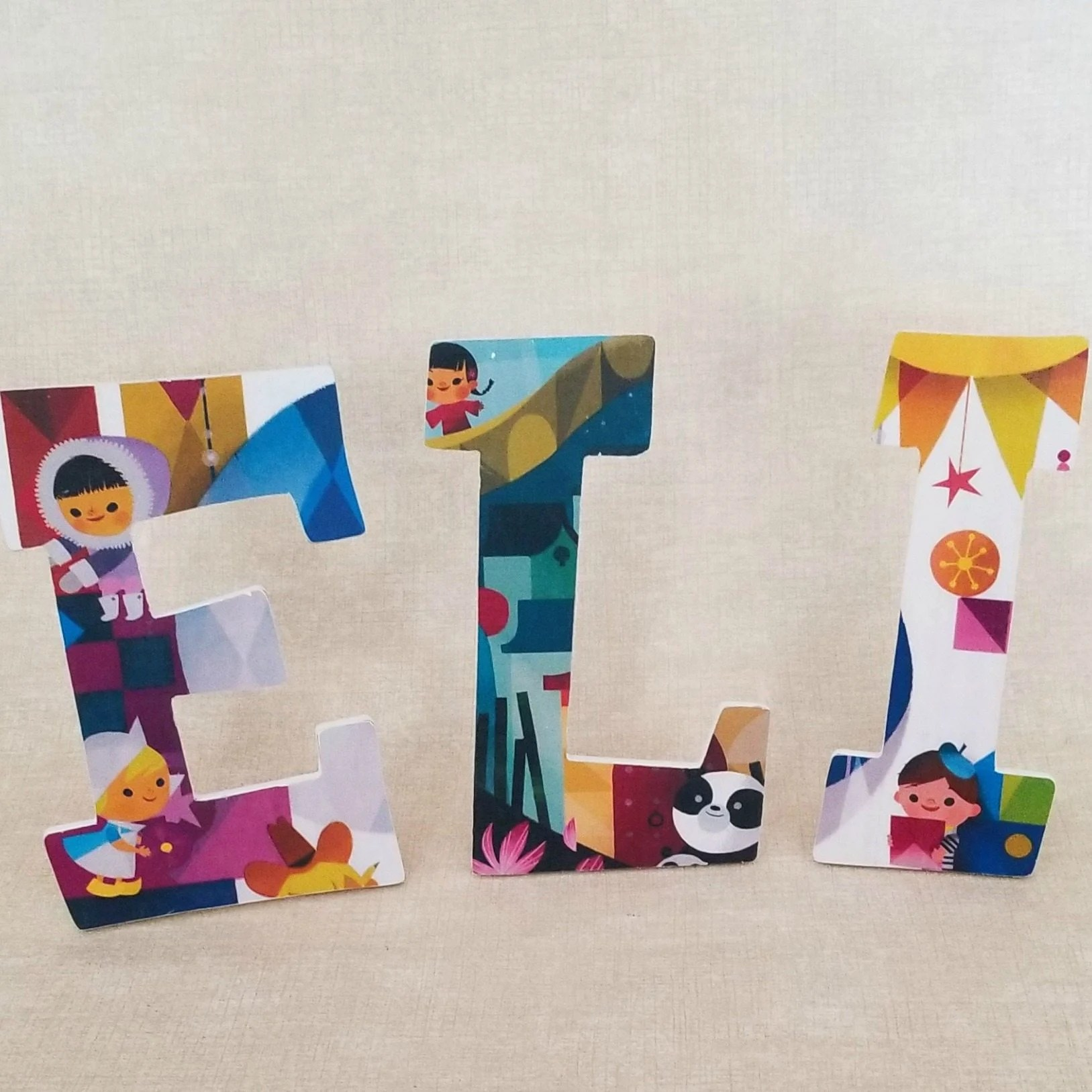 Decoupage Wooden Letters , My Repurposed Life® Rescue Re