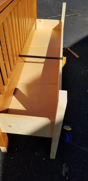 bottom boards for storage bench