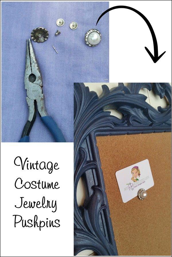 Vintage-Costume-Jewelry-Pushpins-MyRepurposedLife.com_