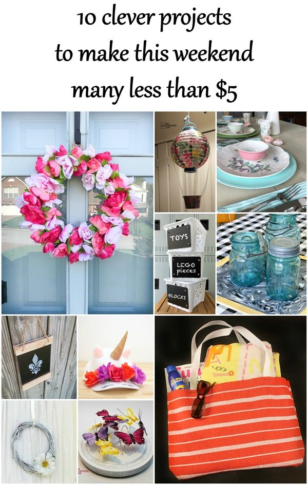 clever dollar store projects to make this weekend less than five dollars MyRepurposedLife.com