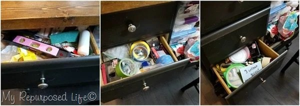 craft station junky drawers