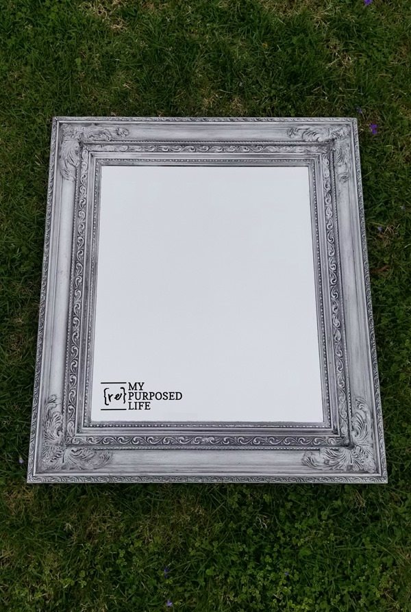 glazed ornate mirror frame MyRepurposedLife.com