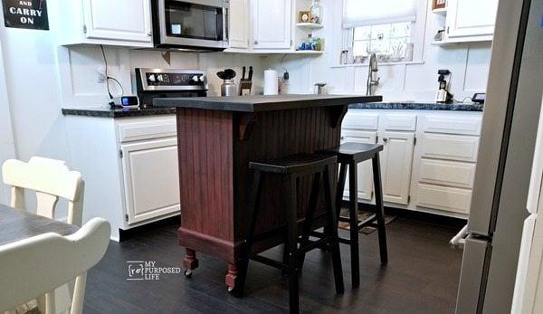 kitchen island update MyRepurposedLife.com