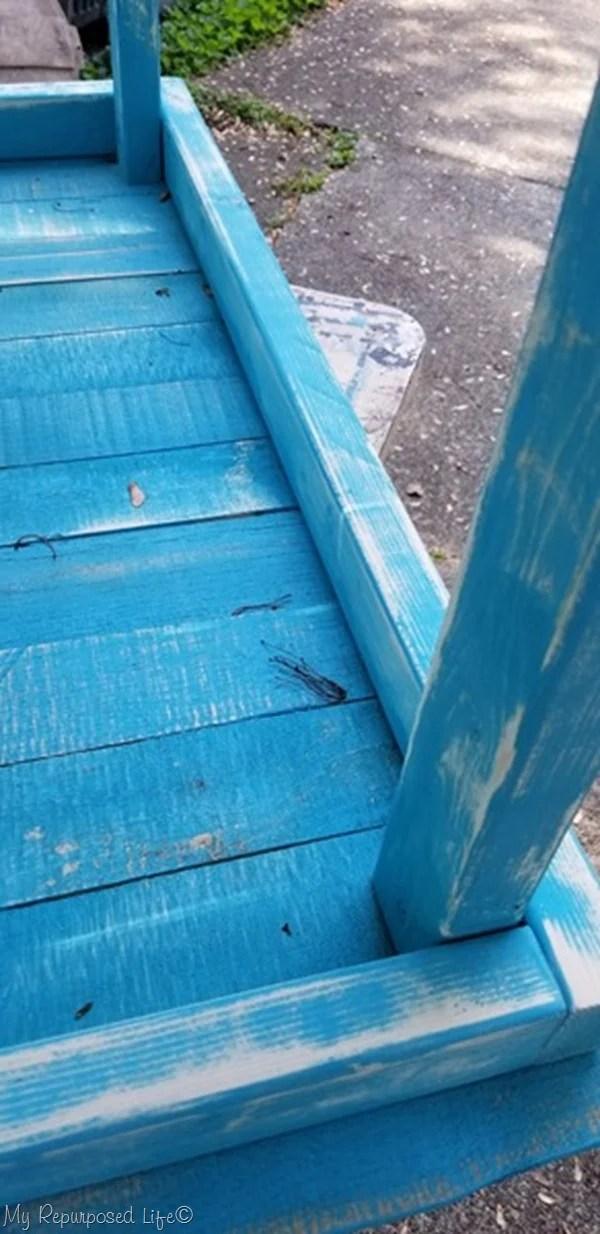 sand distress paint