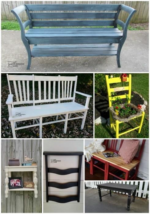 broken chairs repurposed