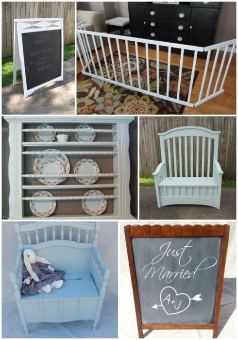 repurposed crib projects