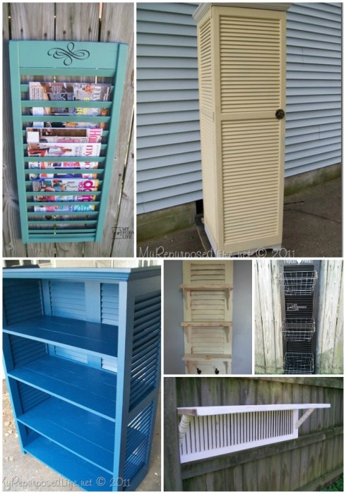 using reclaimed shutters