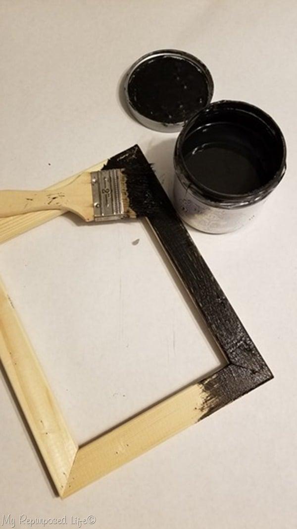 paint reverse canvas frame