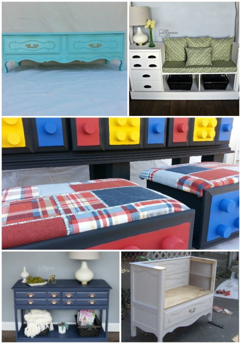 repurpose furniture dresser ideas