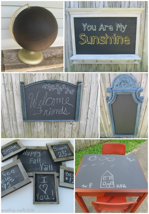 repurposed chalkboard project ideas