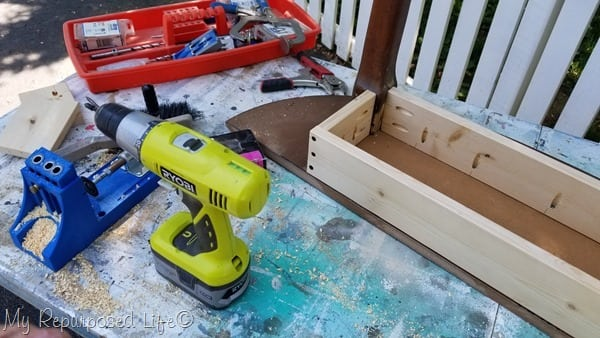 wood screws attach apron back-cleat