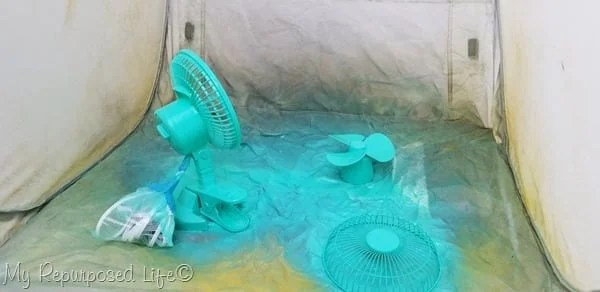 custom color fan is easy with spray paint