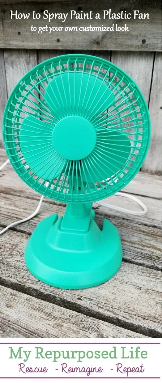 get your own custom color fan by using spray paint MyRepurposedLife