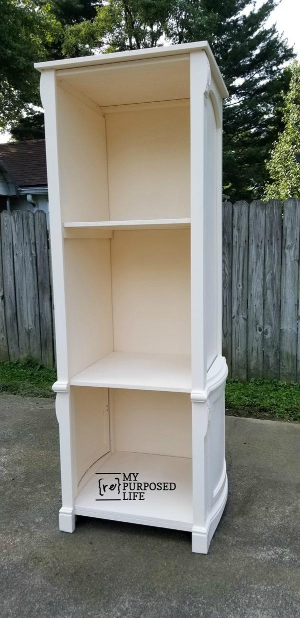 repurposed armoire doors made into book shelf MyRepurposedLife