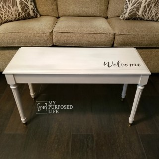 repurposed furniture makeover painted piano bench MyRepurposedLife