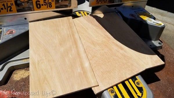 scrap pieces thin plywood