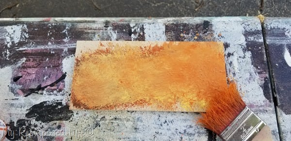 scrap wood paint pallette