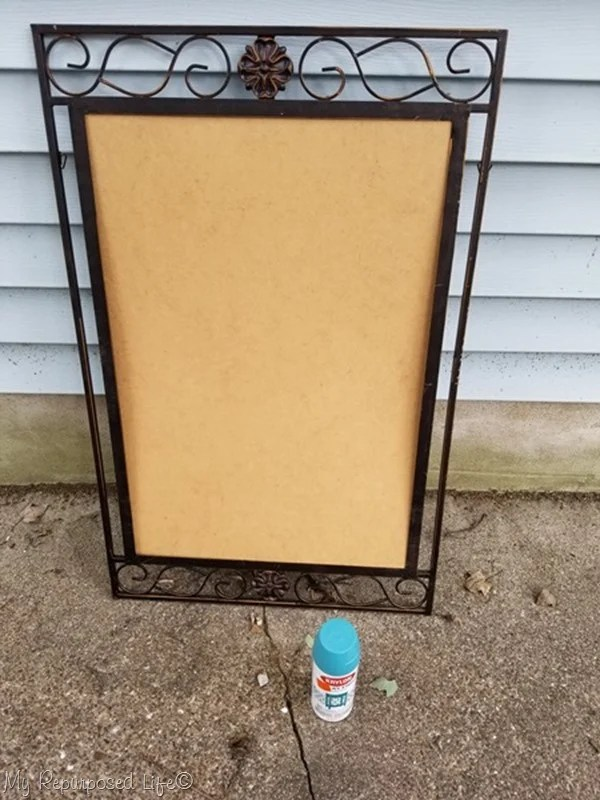 broken mirror frame chalkboard