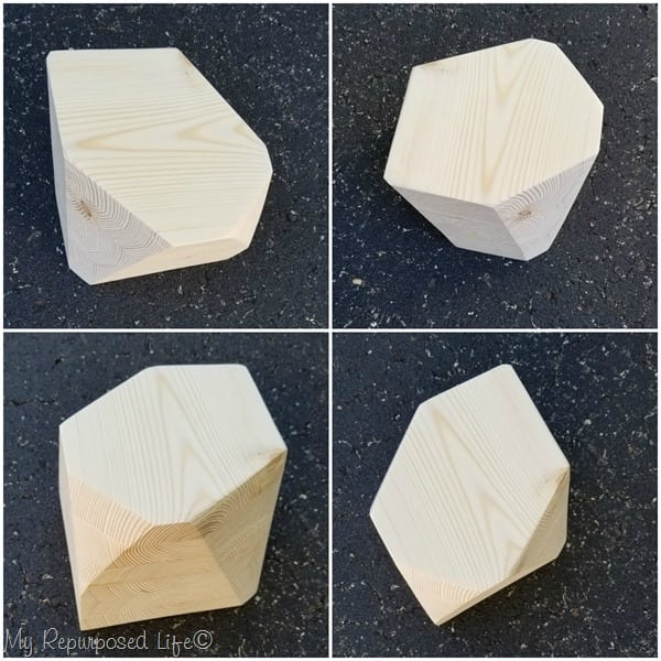 diy wooden geometric candle holder variations